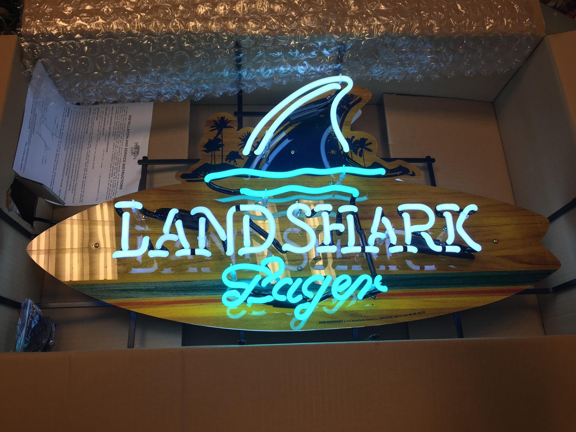 Land shark beer neon new in box