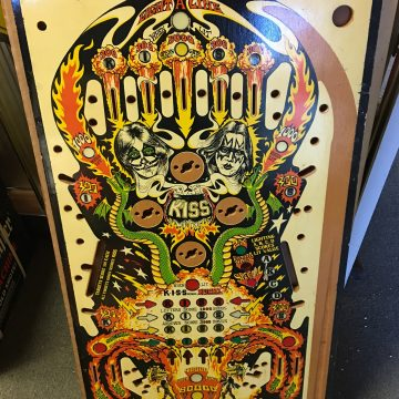 NOS Bally Kiss Pinball Playfield Rare German SS Version